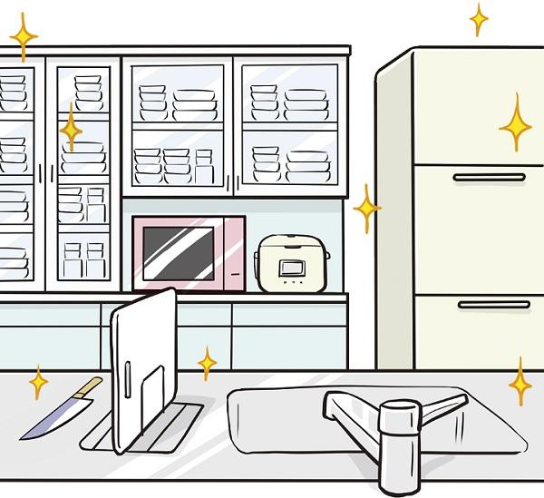 キッチン周りの除菌