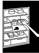 冷蔵庫内をそうじ